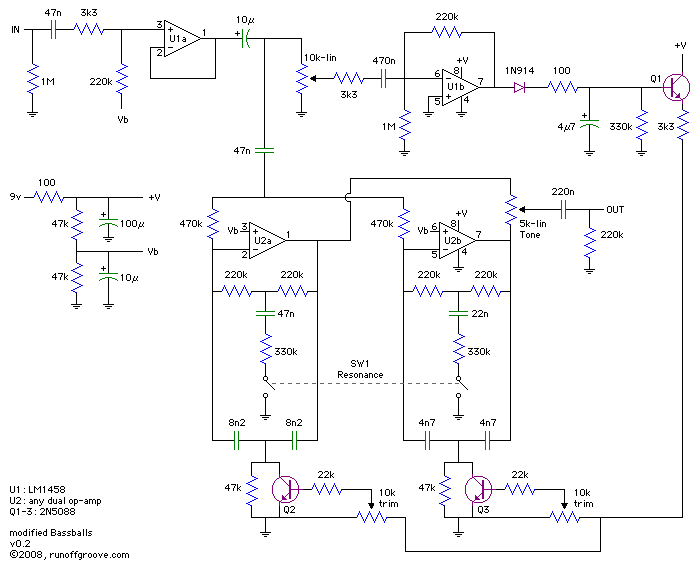 questions about qtron and others envelope followers, schematic